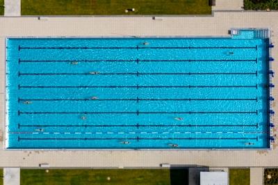 Kneippbad Eröffnung am 25. Mai 2019.Luftbild